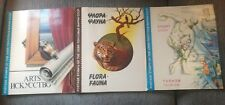 Russia stamp Album USSR  3 Books Sport Arts & Flora Fauns Approx 290 stamps