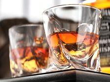More details for clear glass crystal quadro tumbler 340ml whisky spirit glasses set 2, 4, 6, 12