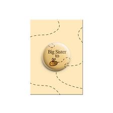 Big Sister essere Ape Bumble Doccia Bambino Annuncio Bottone Spilla Badge 38mm