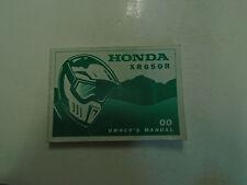 2000 Honda XR650R XR 650 R Owners Betreiber Owner Manuell Fabrik Neu