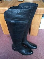 Dune Over Knee Zip 100% Leather Upper Shoes for Women