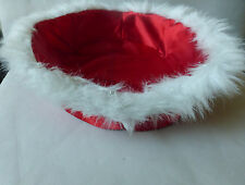 BAB Build a Bear Workshop Red Satin & White Sparkle Furry Pet Princess Bed