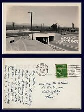US ARIZONA BENSON RAILROAD UNDER PASS POSTED 9 JANUARY 1947 TO WILLOUGHBY, OHIO