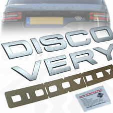 Tailgate lettering for Land Rover DISCOVERY 5 Silver rear boot logo font decal