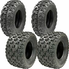 (All 4 Tires) 21x7-10 & 20x10-9 New TG EOS ATV TIRE SET Yamaha Raptor 660 700