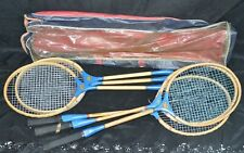 Wooden Badminton Racquet Mixed Set of 6 Made in JAPAN Wall Decor Vintage Racket