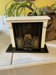 Dolls House Large Open Coal Fire Hearth Fireplace Resin Furniture 1.12