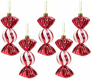 Christmas Concepts® Pack of 5-110mm Large Sweet Shaped Baubles Red (BA242)