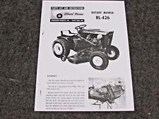1965 WHEEL HORSE TRACTOR RL-426 ROTARY MOWER PARTS LIST MANUAL