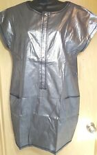 Space-age Metallic Silver Zip Front Shift Dress Go International L Party Costume