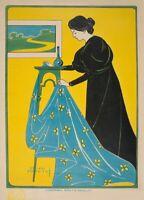 Ameublement Gouthier, 1896, Reproduction Vintage Art Nouveau Poster