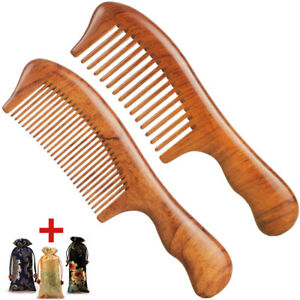 Premium Hair Combs Natural Wood Comb Wide Tooth Handmake Sturdy Smooth No Static
