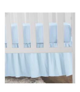American Baby Company Ultra Soft Microfiber Ruffled Mini Crib Skirt, Blue. 24x38