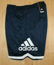 NWT ADIDAS Men's Big & Tall Logo Basketball Shorts Navy Blue White