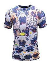 Pug Lyfe T-Shirt (all over 3d print funny cute dog t shirt)