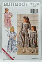 1989 Butterick Sewing Pattern 4405 Girls Dress 2 Styles Size 7-8-10 Fashion 5580