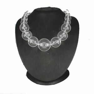 """HSN Round Cut Glass Bead 22"""" Strand Necklace"""