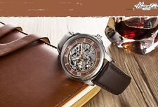 KENNETH COLE MEN'S AUTOMATIC SKELETON LUXURY BROWN WATCH KC1745
