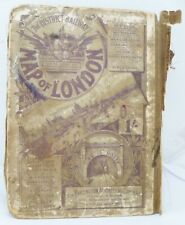 The District Railway Map of London, 1800s, linen, The Partington Advertising Co.