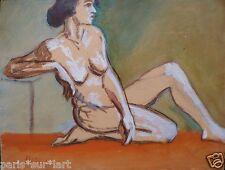 Marcel HORCLOIS (1914-2011) Pastel Nu Fauvist Fauvism Fauviste Ecole de Paris