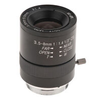 """1/3"""" CS Mount 3.5-8mm F1.4 Manual Zoom CCTV Lens for CCD Industrial Camera"""
