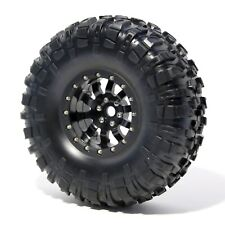 Wheel&tire (1pcs) beadlock 2.2 Black for realistic project 1/10 1/8 crawlers