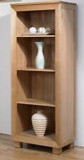 Bevel Medium Bookcase Solid Oak / 40cm Deep / Cabinet / Book Shelf / Office /New