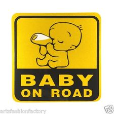 Baby on Road Baby Safety Sign Reflective Car Vinyl Sticker Window Decal Decor