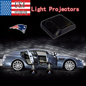 2Pcs Wireless Car Door Projector Shadow LED Laser Light For New England Patriots