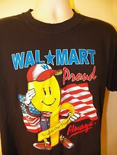 """WALMART """"We Salute Our Troops"""" T-Shirt LARGE Black 100% Cotton Work Employee"""