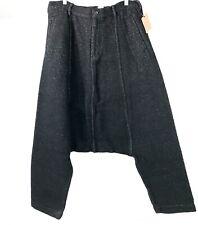 NWT Comme Des Garçons Cotton Rayon Short Baggy Pants Long Crotch Black Size M
