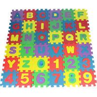36-tlg. Zahlen Kinder Puzzlematte Spielmatte Bodenmatte Spielteppich Buchstabe