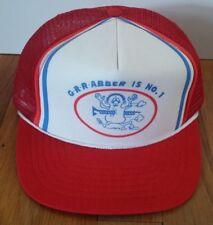 Vintage Grabber Supply Trucker Snapback Hat Cap Red/White/Blue Rare