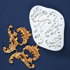Vintage Baroque Silicone Mould Relief Cake Lace Border Fondant Baking Decor Mold