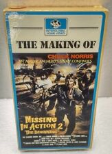 The Making of Missing In Action 2 Movie w/ Chuck Norris on VHS Video Tape