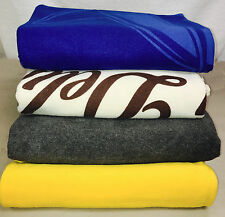 "Lot of 34 - Random Colors Printed Fleece Blanket Throw size 50""x60"""