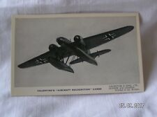 VALENTINE'S AIRCRAFT RECONGNITION CARDS THE HEINKEL HE 115K2