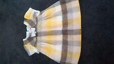 MAYORAL TARTAN YELLOW/BEIGE BABY GIRL DRESS WITH CREAM CARDIGAN 6 MTHS
