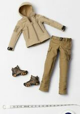 "Supermc 1/6th 12"" female Figure sand Tactical Coat+ pants +outdoor shoes Model"
