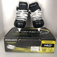 Youth Bauer Supreme S140 Ice Hockey Skates Size US 9 13 Black Hockey
