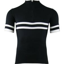 Torm T1 merino SportWool cycling jersey - Black/White- S
