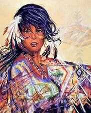 Native American Indian Maiden Girl Wall Picture Art Print (8x10)