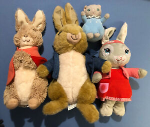 Peter Rabbit Soft Toy Bundle Tom Lilly Flopsy Plush