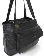 Lorenz Womens Genuine Real Leather Long Strap Organizer Shoulder Bag Handbag UK