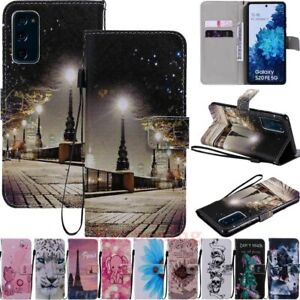 For Samsung S20 S10 S10e S9 S8 S7 Note20 Magnetic Flip Wallet Leather Case Cover