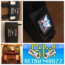 Sega Game Gear Black Console Backlight LCD Glass Lens Rechargeable battery 3K Mh