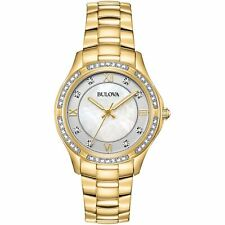 NEW Bulova Gold Womens Watch Exclusives & Specials 98L256