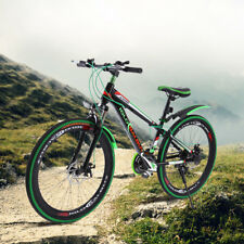 26 Zoll schwarz und grüne Scheibenbremsen Mountainbike MTB FAHRRAD SHIMANO Stahl