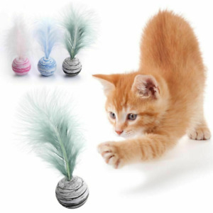 Delicate Cat Star Balls Plus Feather High Quality Light Foam Ball Throwing Funny