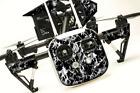 DJI Inspire 1 Quadcopter/Drone, Transmitter, Battery Wrap/Skin | Grey Flames